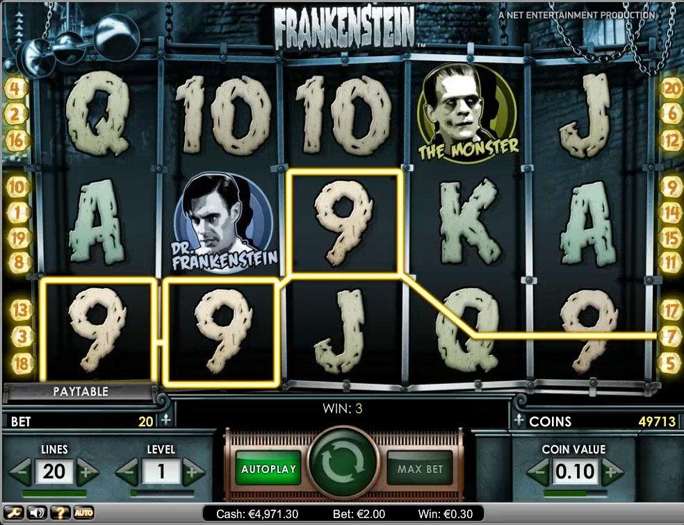 игровой автомат frankenstein описание