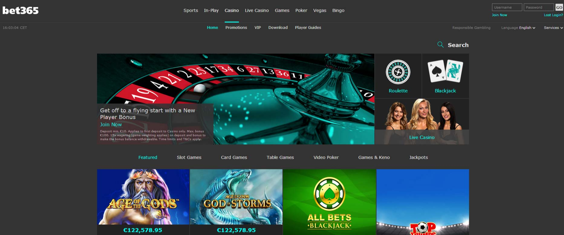 casino bet365 router